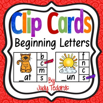 Clip Cards (Beginning Letters)