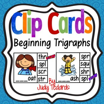 Clip Cards (Beginning Trigraphs Sounds)