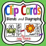 Clip Cards (Blends/Diagraphs Beginning Sounds)