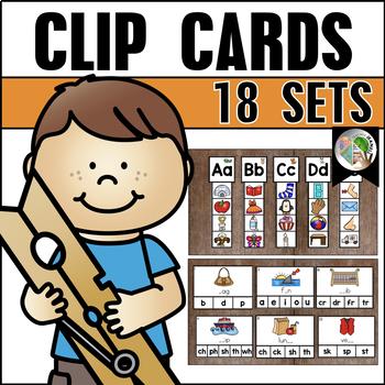 Clip Cards (18 Sets) Bundle 1