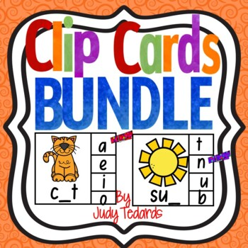 Clip Cards Bundle(Beginning, Middle, and Ending Letters)