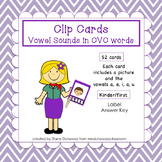 Clip Cards: CVC Vowel Sounds