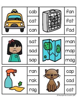 Clip Cards - CVC Words