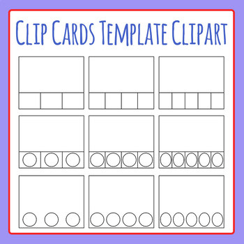 Clip Cards / Clip It Card Template Clip Art Set for Commercial Use