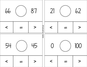 Clip Cards Comparing Numbers [Greater than, Less than, Equal to]