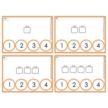 Clip Cards: Count the Cubes 1-100