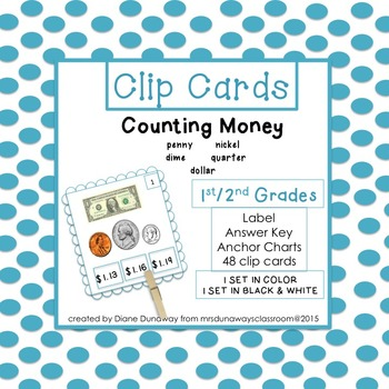 Clip Cards:  Counting Money 1st/2nd Grades