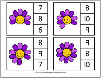 Clip Cards – Math Counting - 5 Sets for the Entire Year