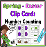 #Easterdollardeals Spring Math - Clip Cards Counting  - 4 Sets