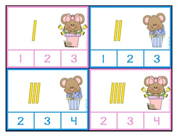 Counting Tally Marks 1-30 with Clip Cards