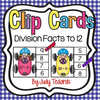 Clip Cards (Division Facts through 12s)