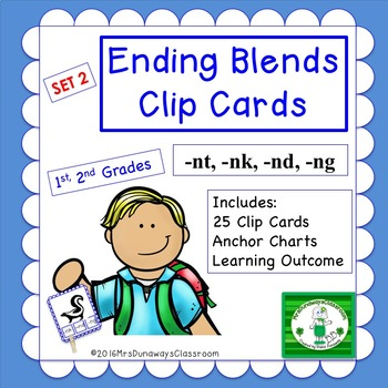 Clip Cards: Ending Blends (Set 2)
