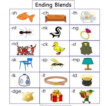Clip Cards: Ending Blends (Set 2)