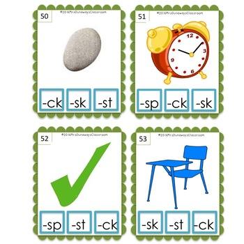 Clip Cards: Ending Blends (Set 3)