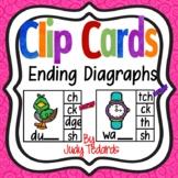 Clip Cards (Ending Diagraphs Sounds)