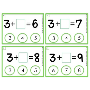 Clip Cards: Fill in the Missing Addend
