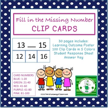 Clip Cards: Fill in the Missing Number
