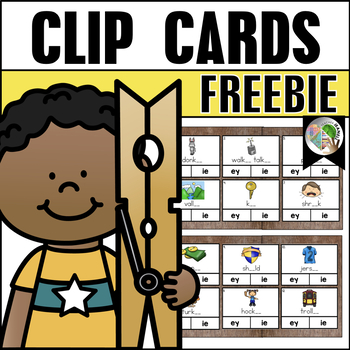 Long e Clip Cards Freebie