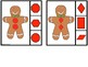 Clip Cards Gingerbread Shapes & Memory Cards