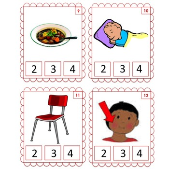 Clip Cards: How many sounds in the word?