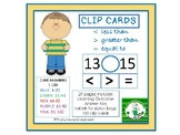 Clip Cards: Less Than, Greater Than, Equal To