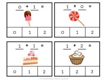 Clip Cards Math - Sweet Treats Addition