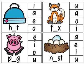 Clip Cards (Middle/Vowel Letter)