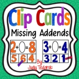 Clip Cards (Missing Addends Sums through 12s)