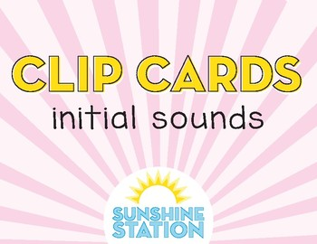 Clip Cards - Missing Initial Sounds and Blends