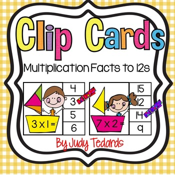 Clip Cards (Multiplication Facts through 12s)