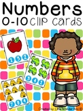 Numbers Clip Cards 0 - 10