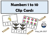Clip Cards Number 1 to 10
