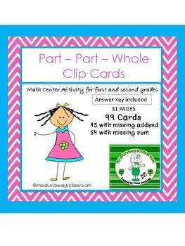 Clip Cards: Part - Part Whole