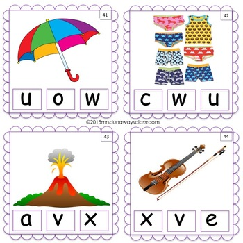 Clip Cards: Picture-Letter Match (pre-K, K, 1st)