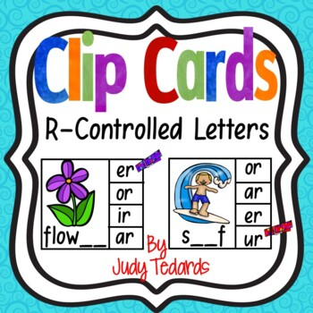 Clip Cards (R-Controlled Words)