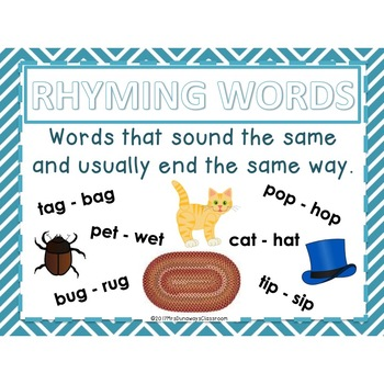 Clip Cards: RHYMING WORDS