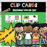 Clip Cards: Rhyming Set