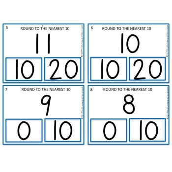 Clip Cards: Round to the Nearest 10
