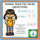 Clip Cards: Addition  NUMBER BONDS