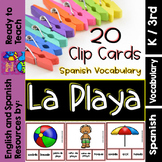 Clip Cards - Spanish Vocabulary - The Beach