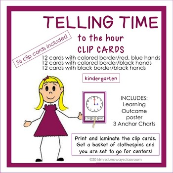 Clip Cards: Telling Time to the Hour