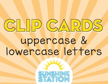 Clip Cards - Uppercase & Lowercase Letters