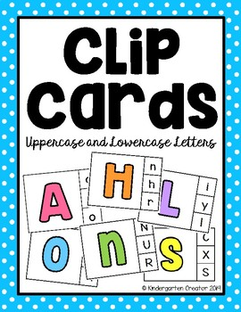 Clip Cards - Uppercase and Lowercase Letters