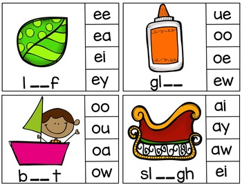 Clip Cards (Vowel Pairs)