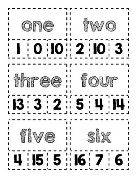 Clip Cards-Word/Number Form