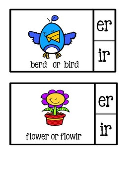 Clip It Spelling Cards ~ ER or IR