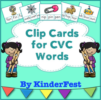 Clip Cards for CVC Words