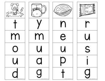 Clip Cards for CVC Words