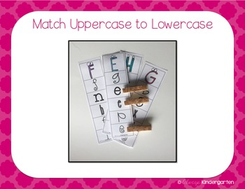 Clip Cards for Letter Recognition