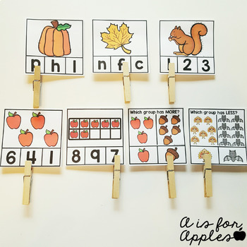 Clip Cards for Reading and Math Growing Bundle